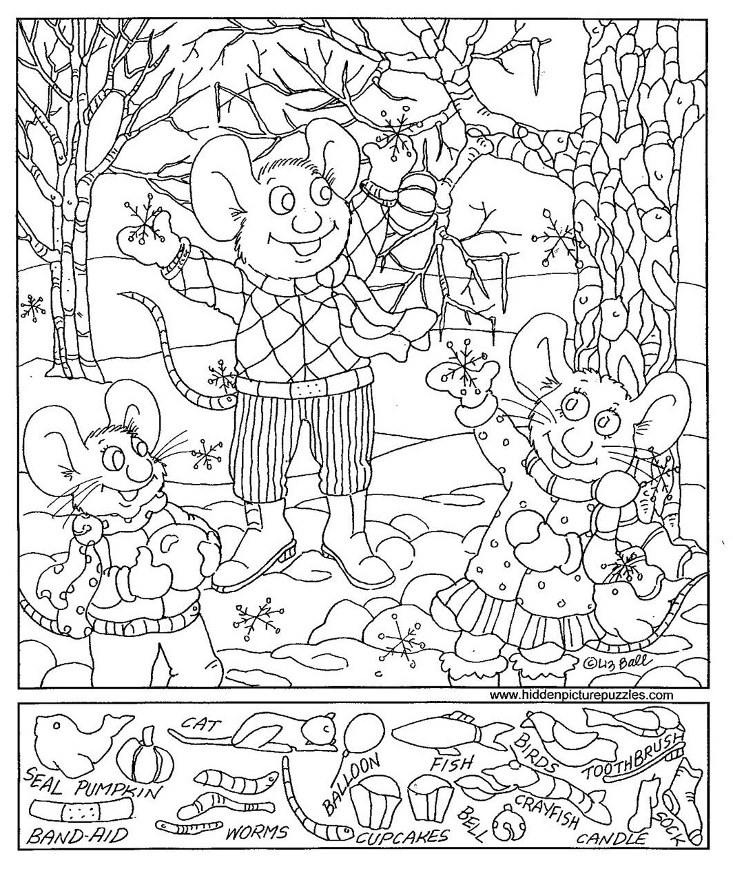 Hidden Pictures Worksheets