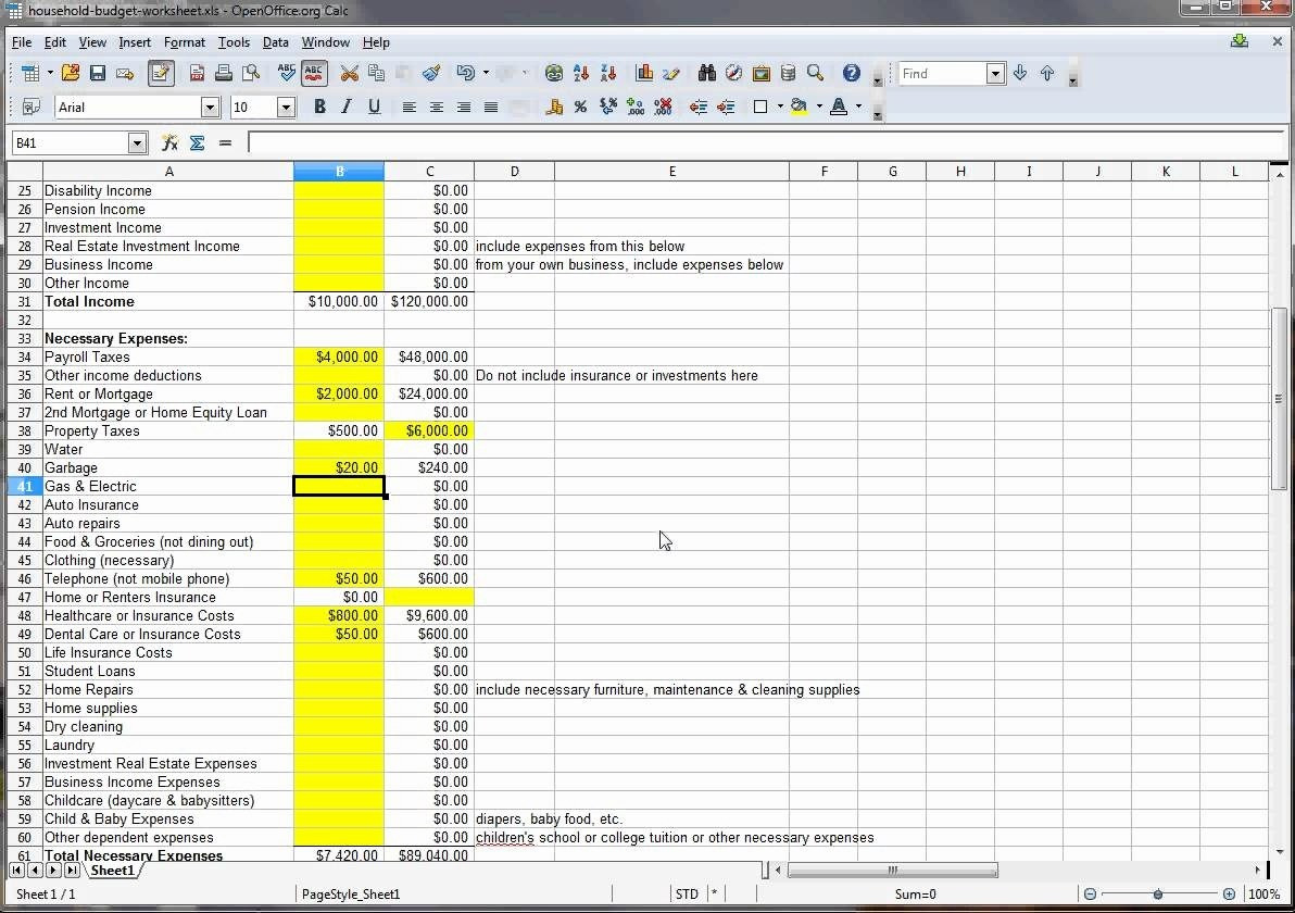 House Flipping Worksheet