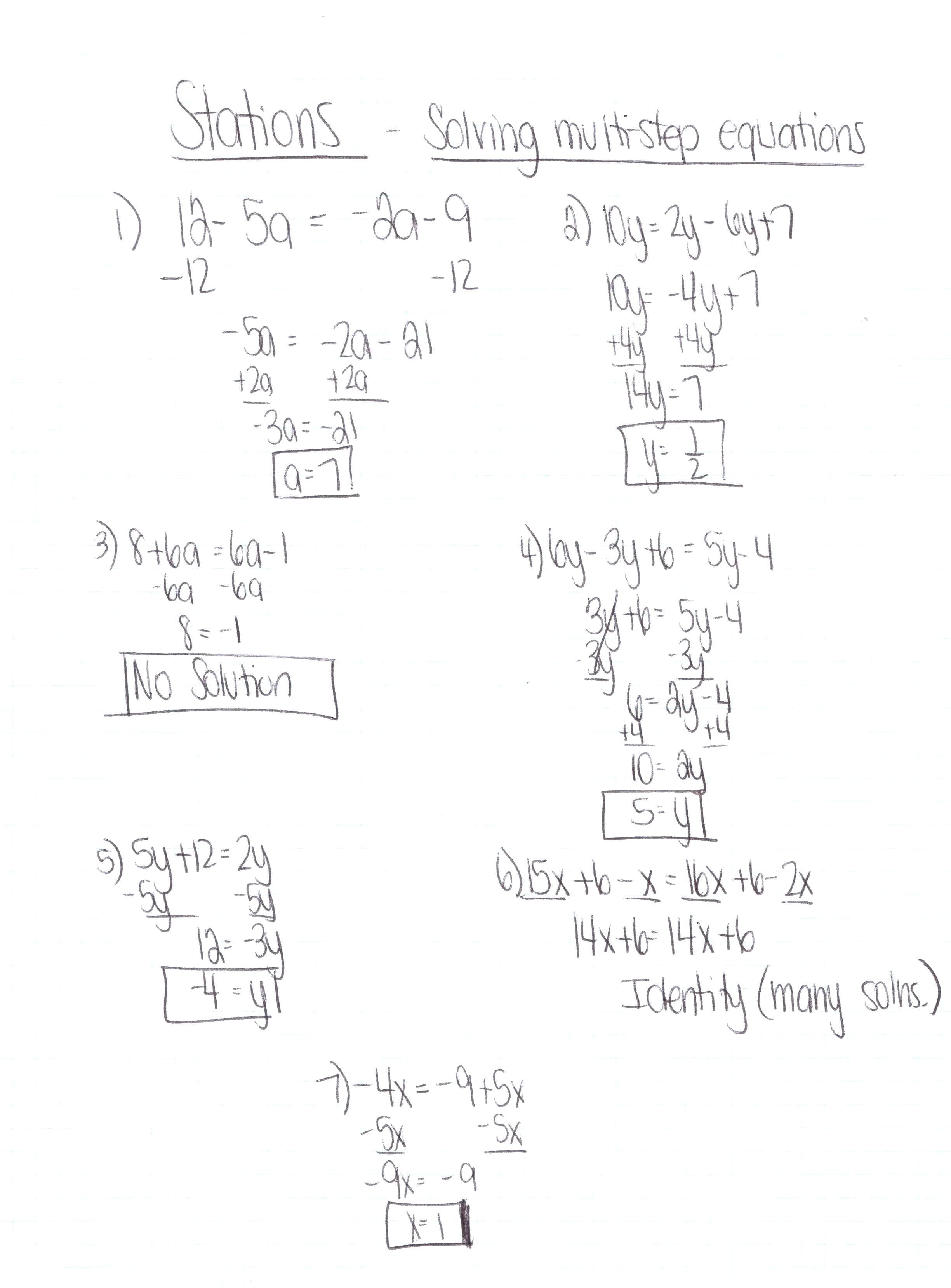 How To Solve An Equation With Variables On Both Sides Math