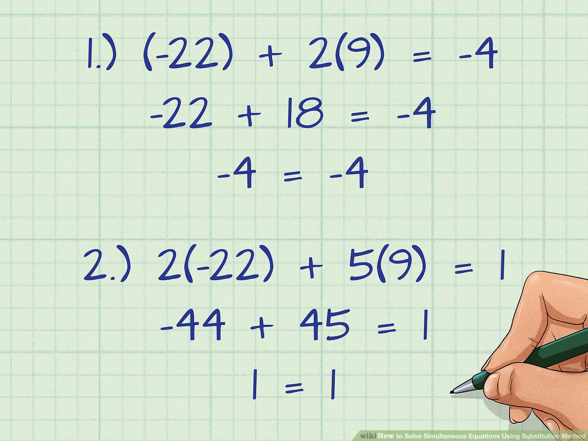 How To Solve Simultaneous Equations Using Substitution