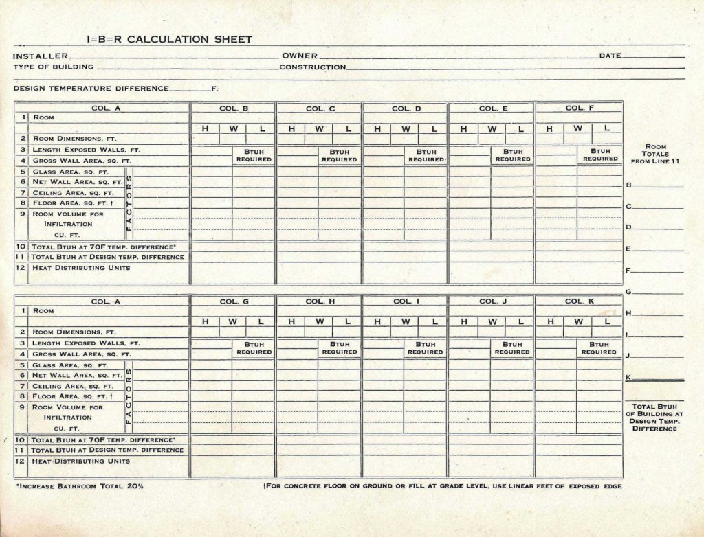 Hvac Residential Load Calculation Worksheet Heat Report