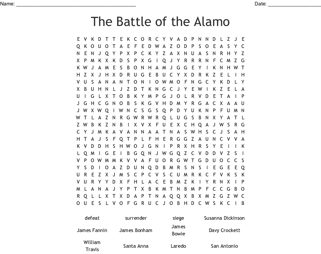 Important People Of The Texas Revolution Crossword Word