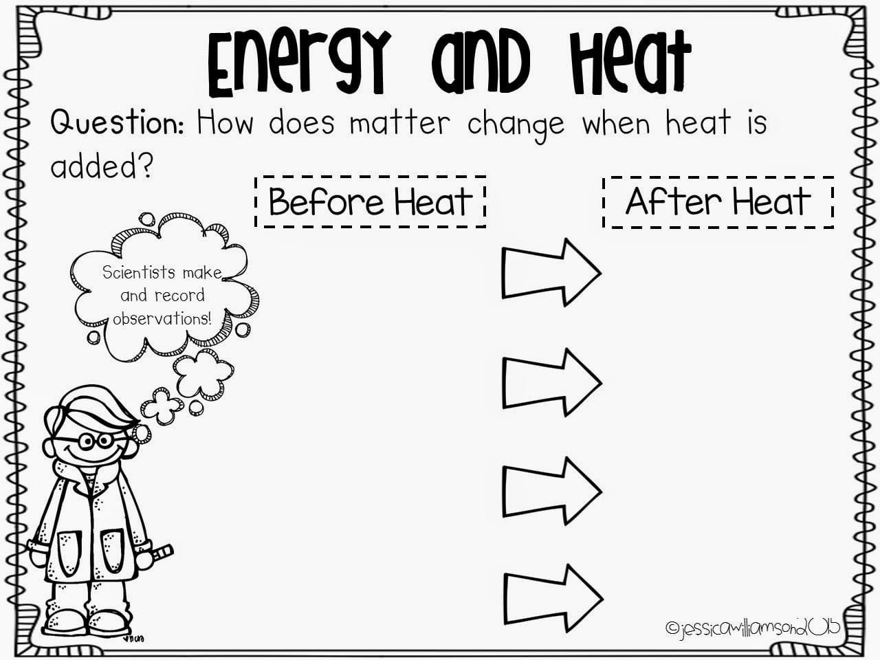 Interesting Light Energy Worksheets Ft Grade On Heat