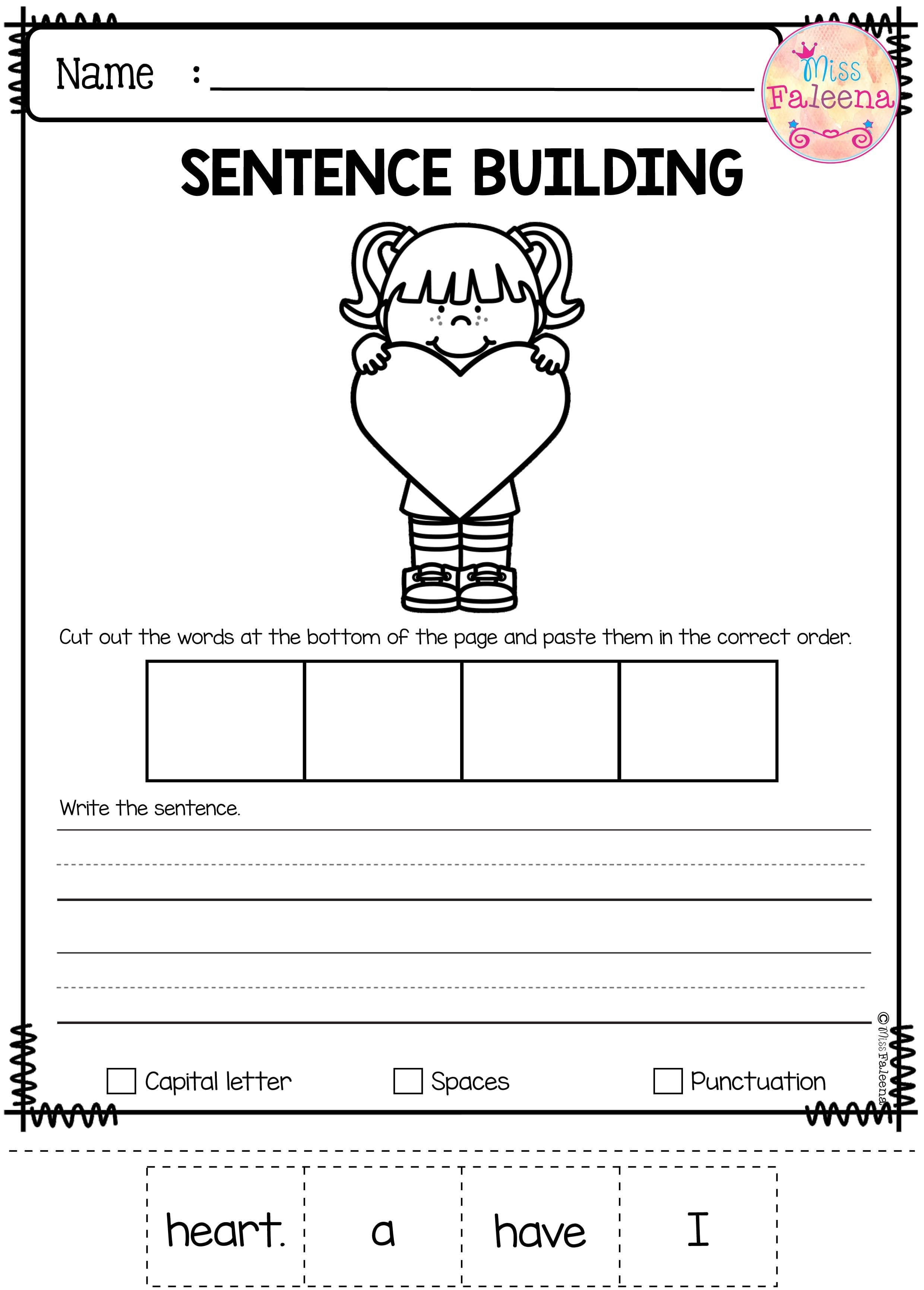 Kindergarten Printable Writing Worksheets For Kindergarten