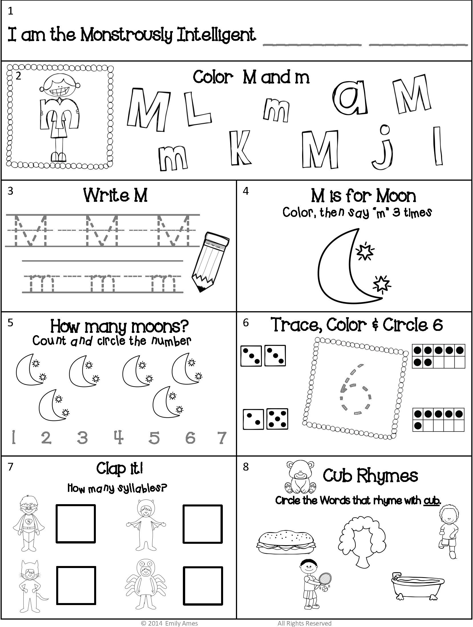 Kindergarten Simple Sentences For Kindergarten Worksheet