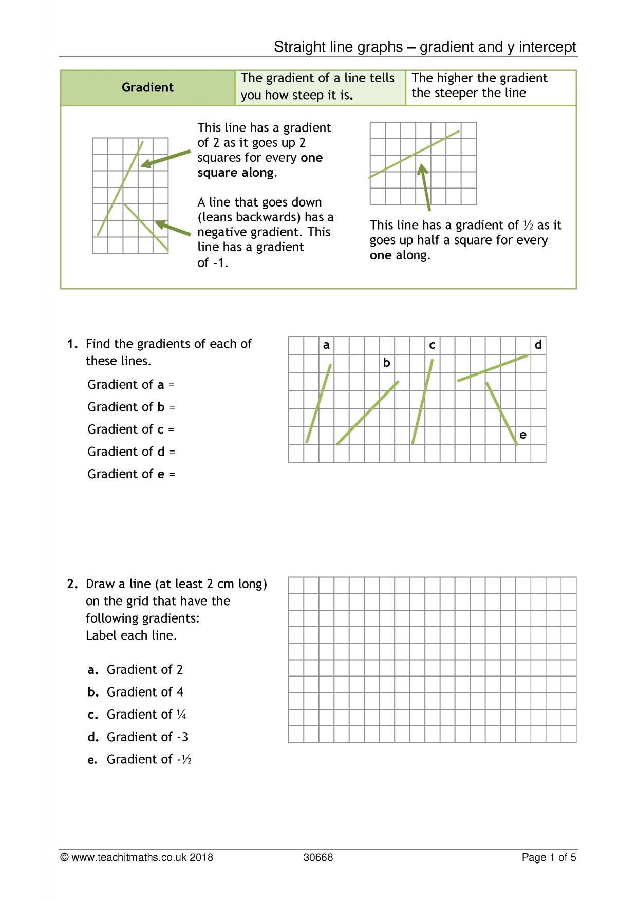 Double Line Graph Worksheets