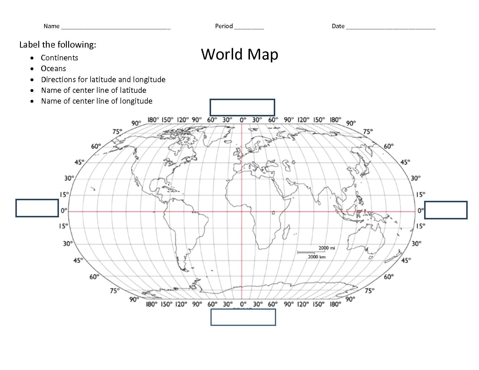 Latitude And Longitude Maps Worksheets