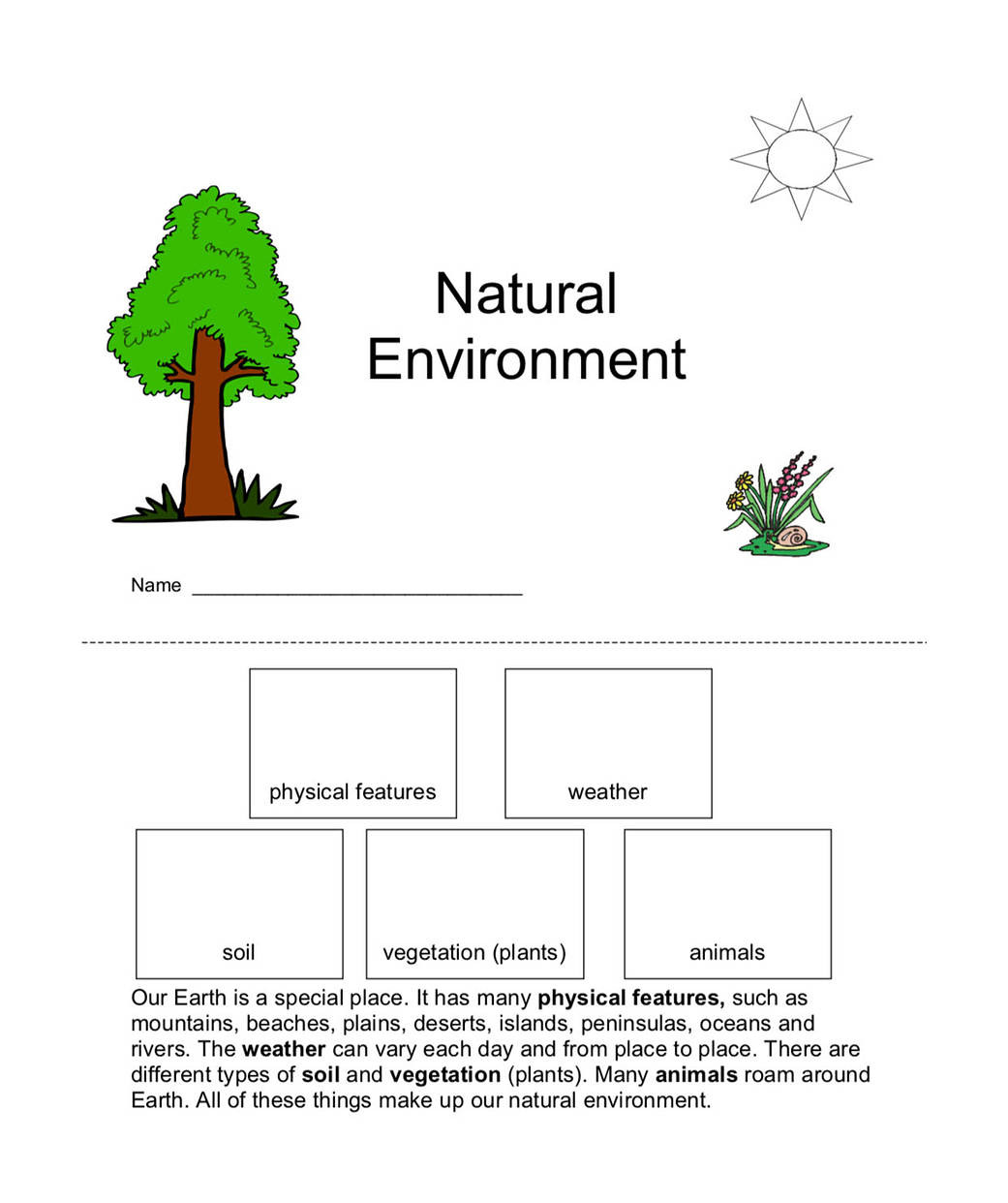 Natural Resources Worksheets