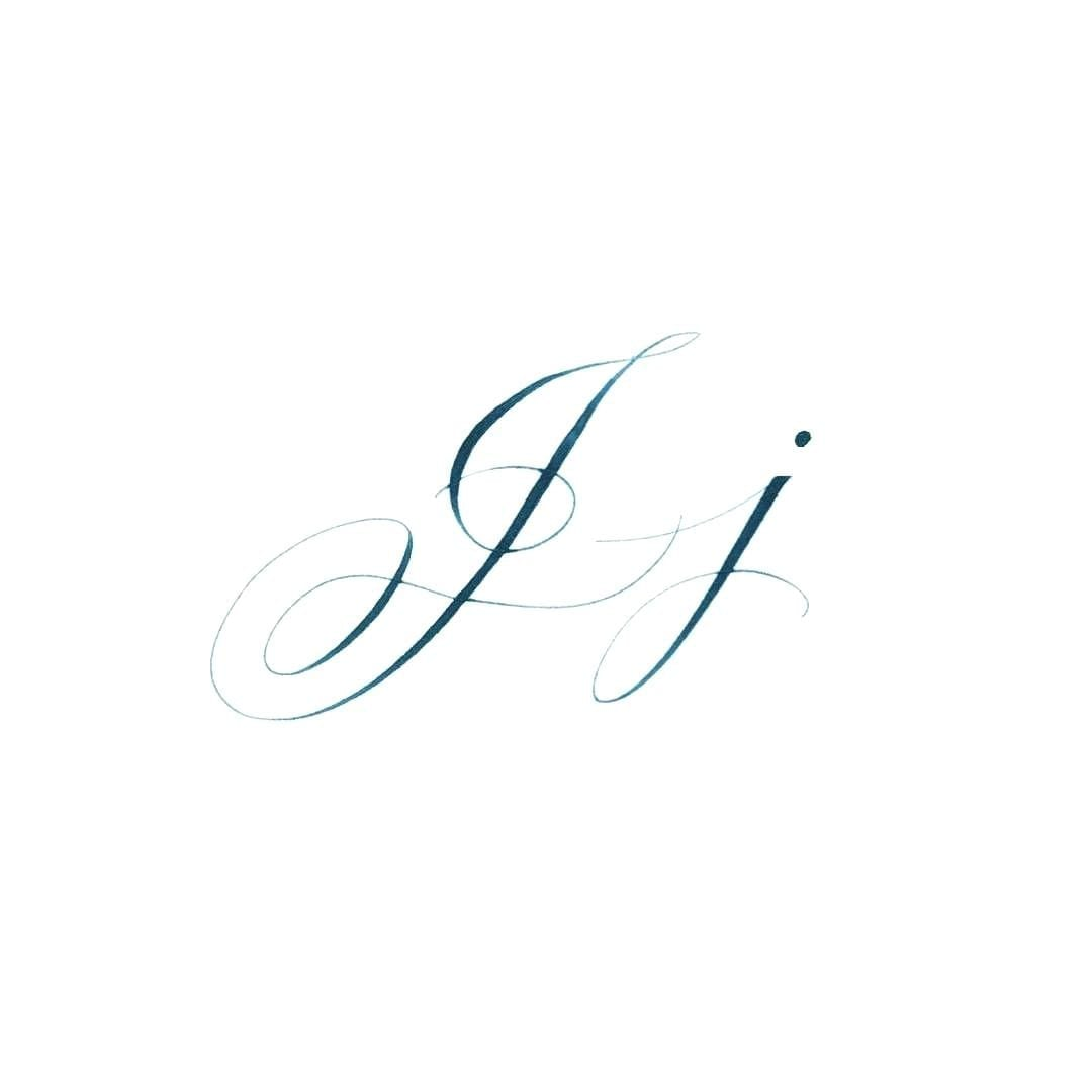 Letter J In Cursive Capital Symbol Handwriting Without