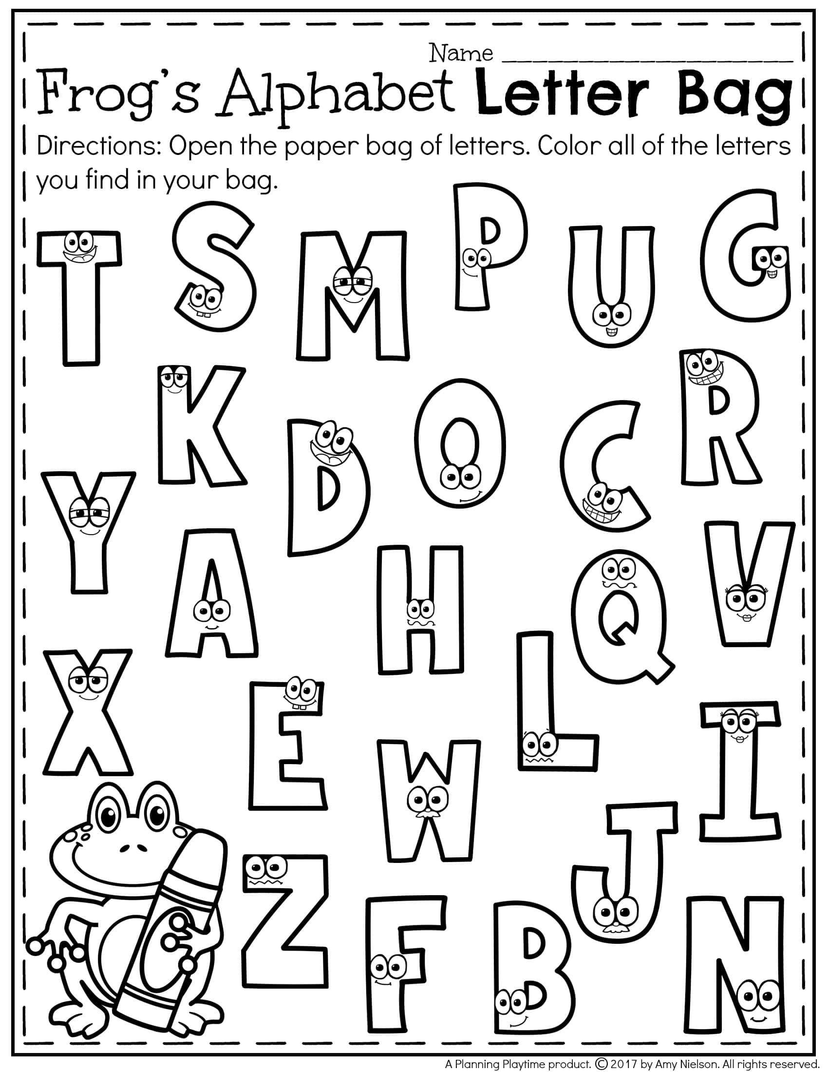 Alphabet Recognition Worksheets For Kindergarten