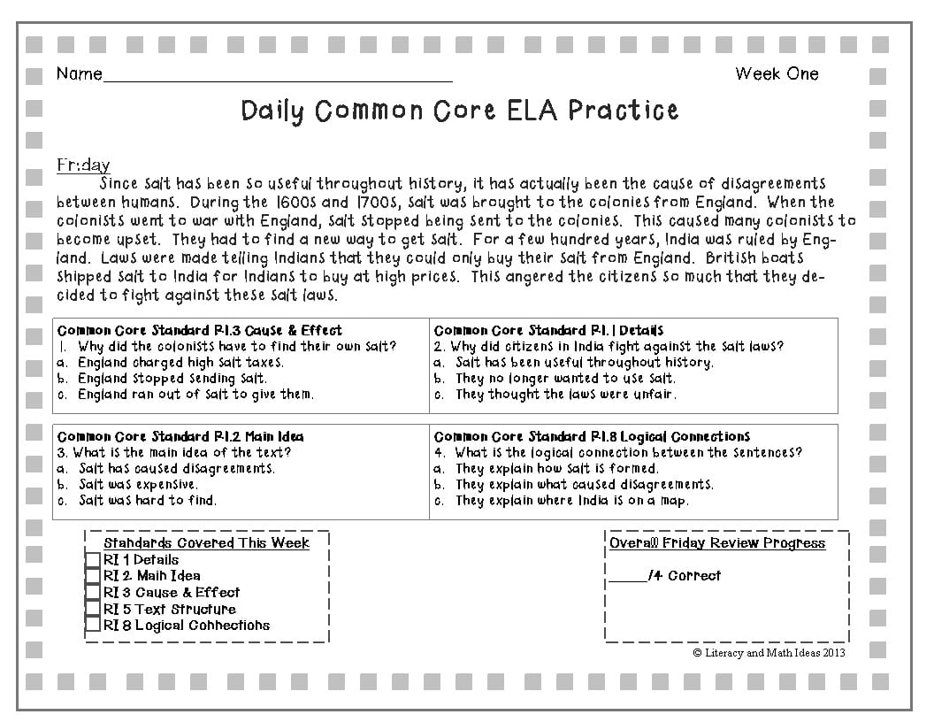 Main Idea Worksheets 4th Grade To You Math Worksheet For