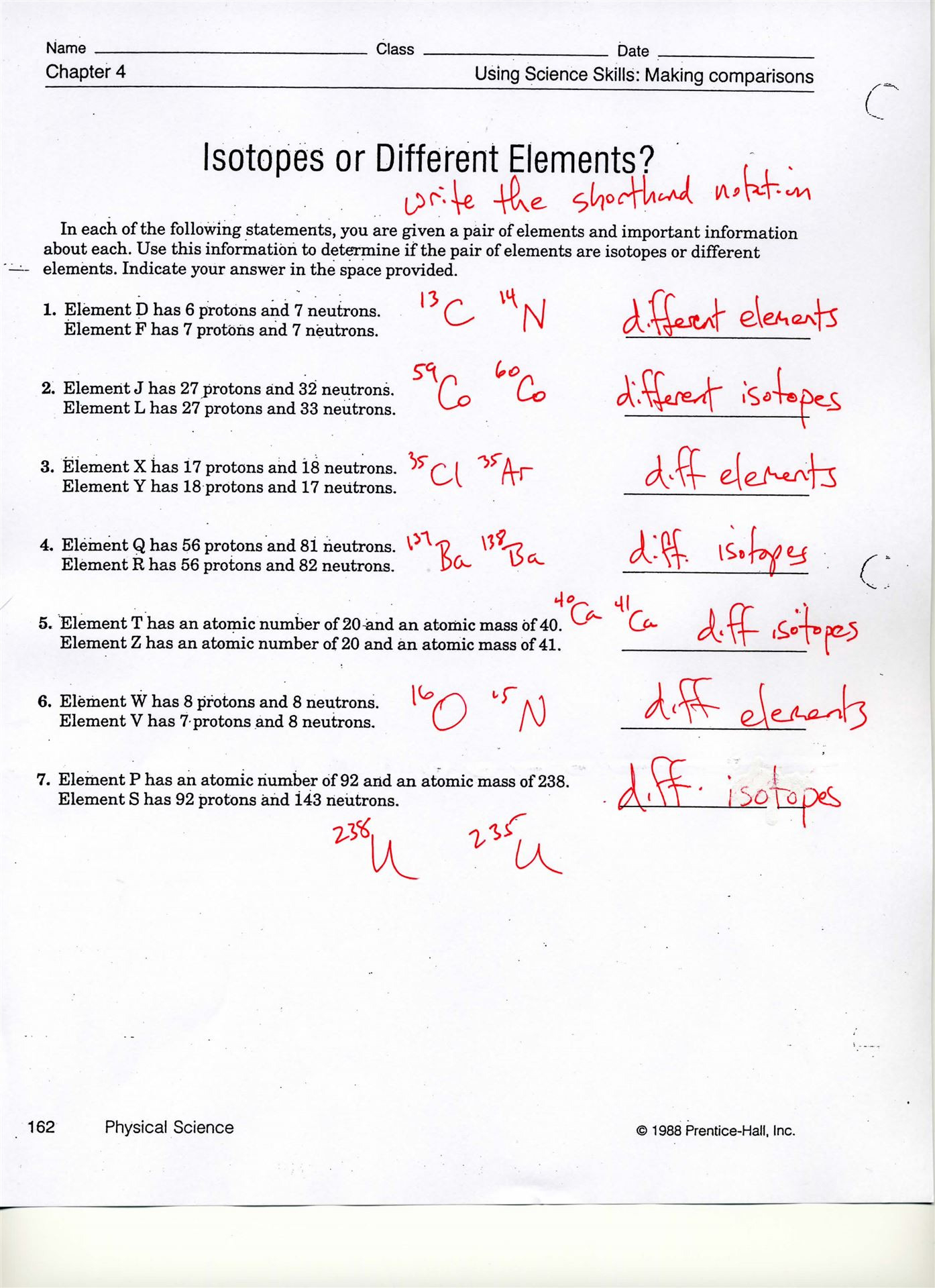Atomic Structure Review Worksheet Answer Key