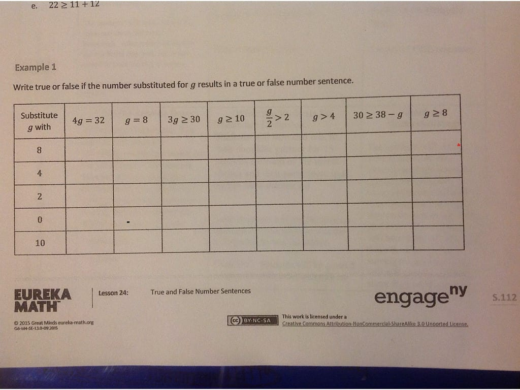 Nys Common Core Mathematics Curriculum Worksheet Answers