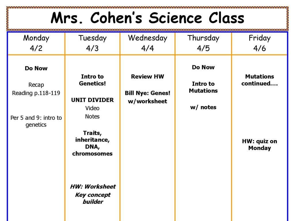 Mrs Cohen S Science Class Traits Inheritance Dna