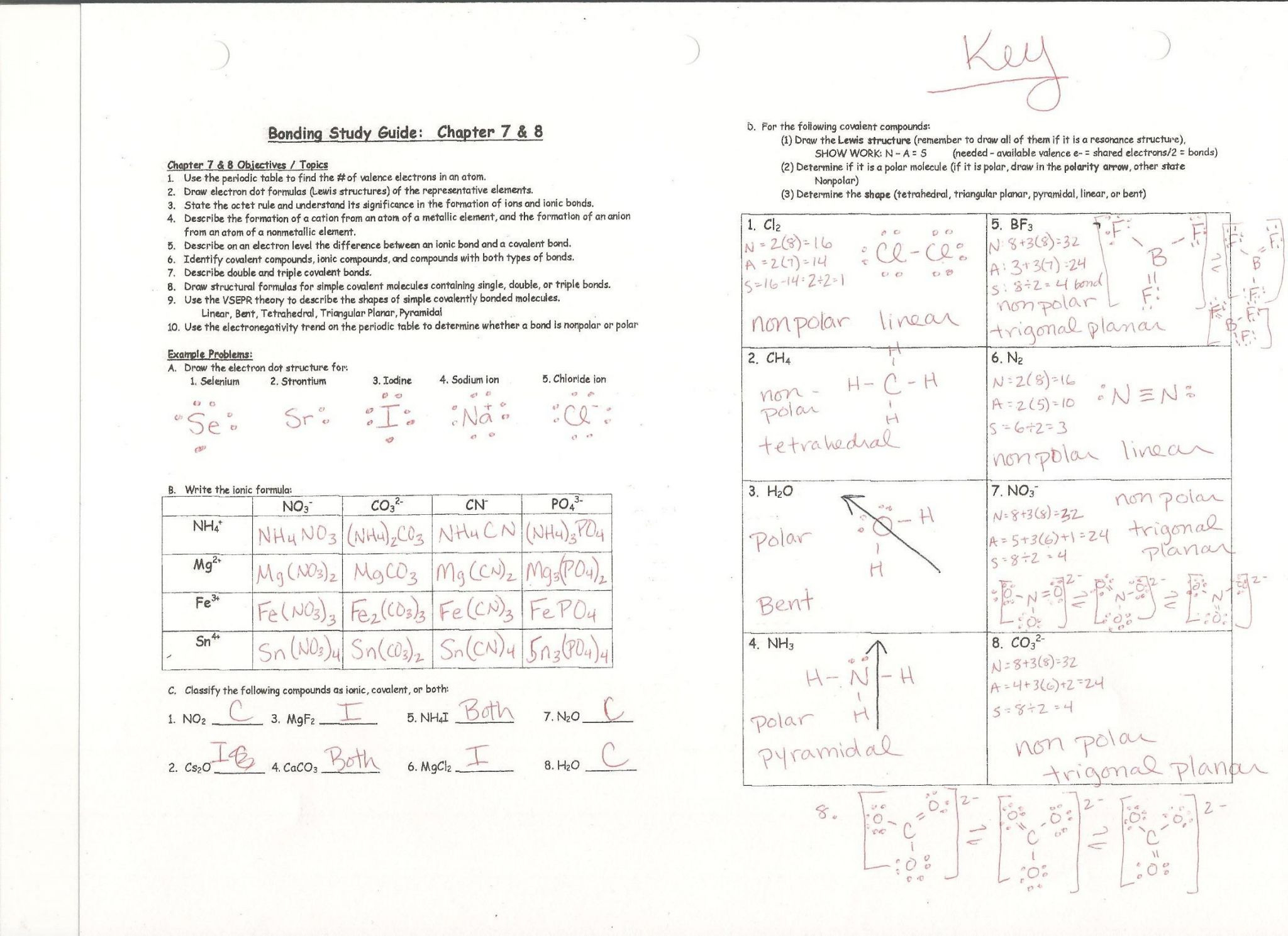Naming Covalent Compounds Worksheet Answers