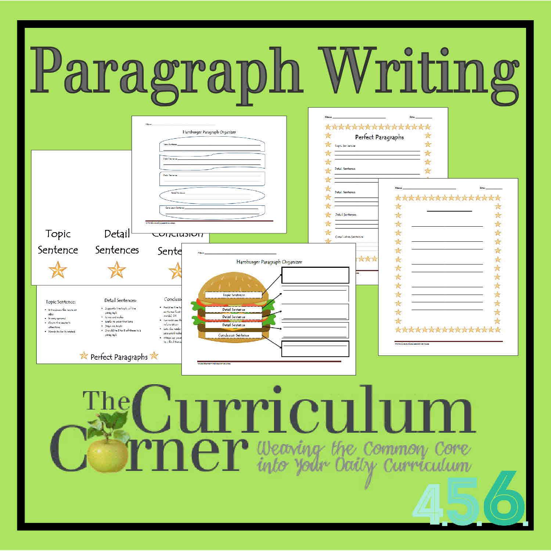 Paragraph Writing The Curriculum Corner 456