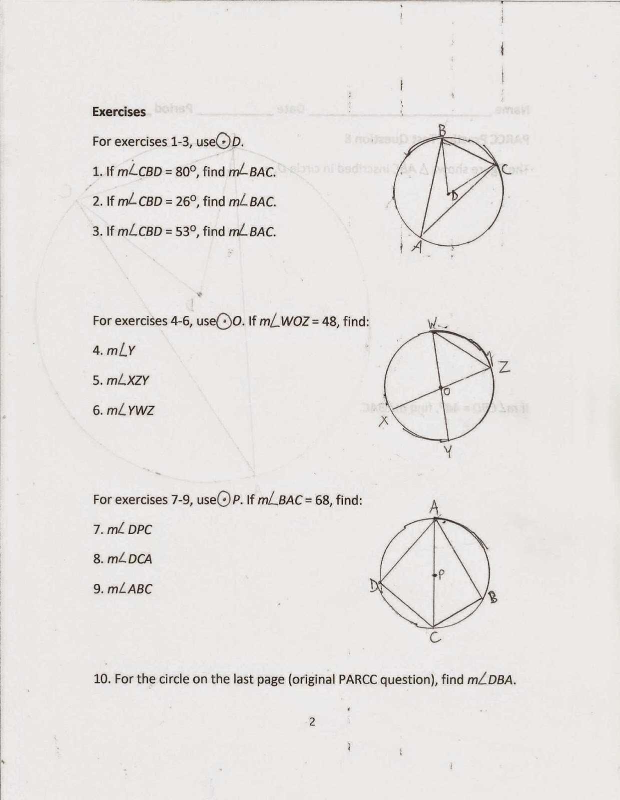 Parcc Practice Worksheets