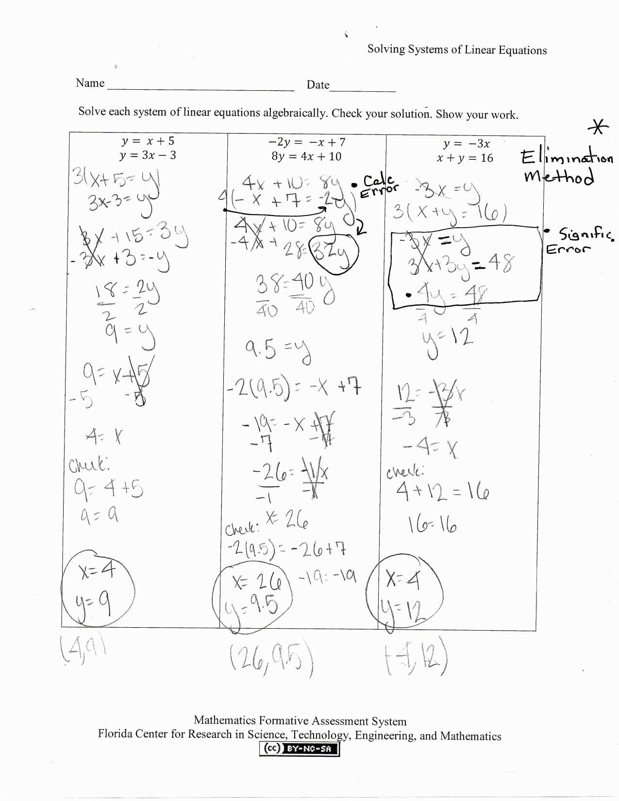 Physics Math Worksheet Algebra And Substitution Antihrap