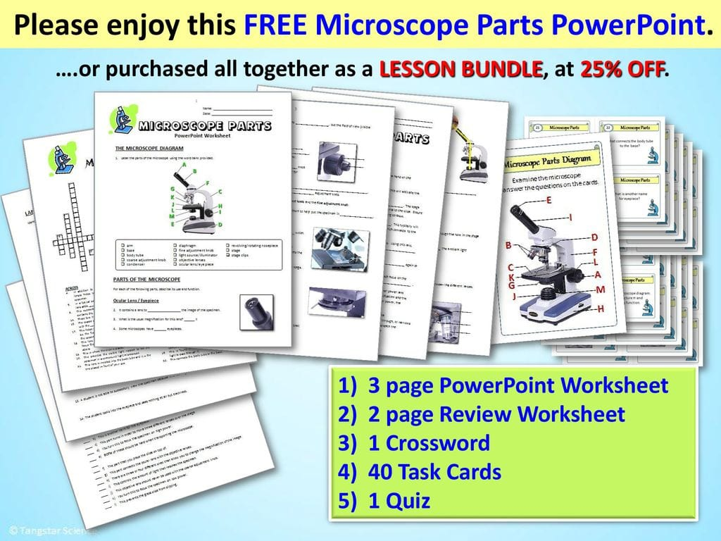 Please Enjoy This Free Microscope Parts Powerpoint Ppt