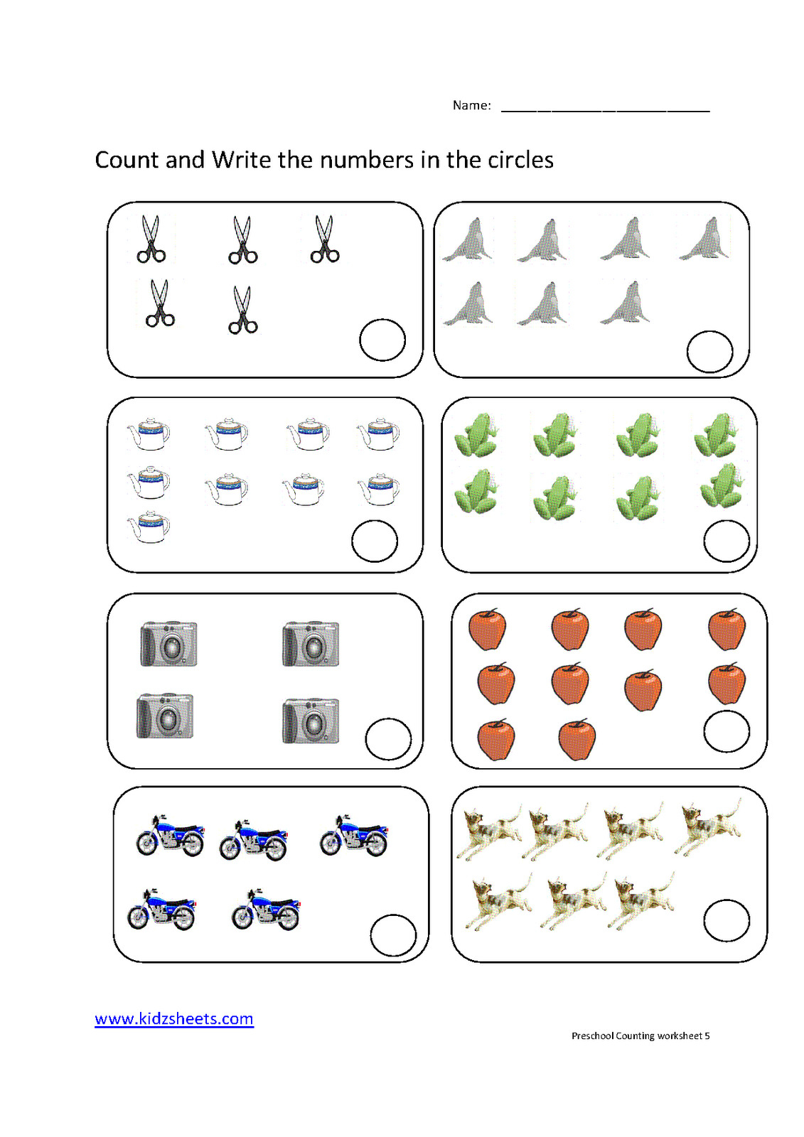 Preschool Counting Worksheets Free Printable Download Them