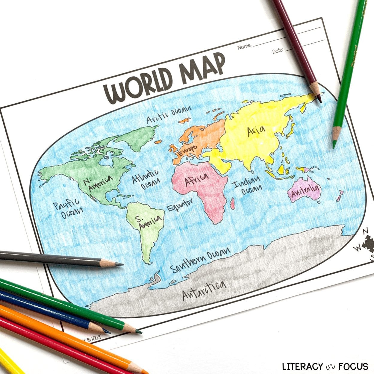 Map Activity Worksheets