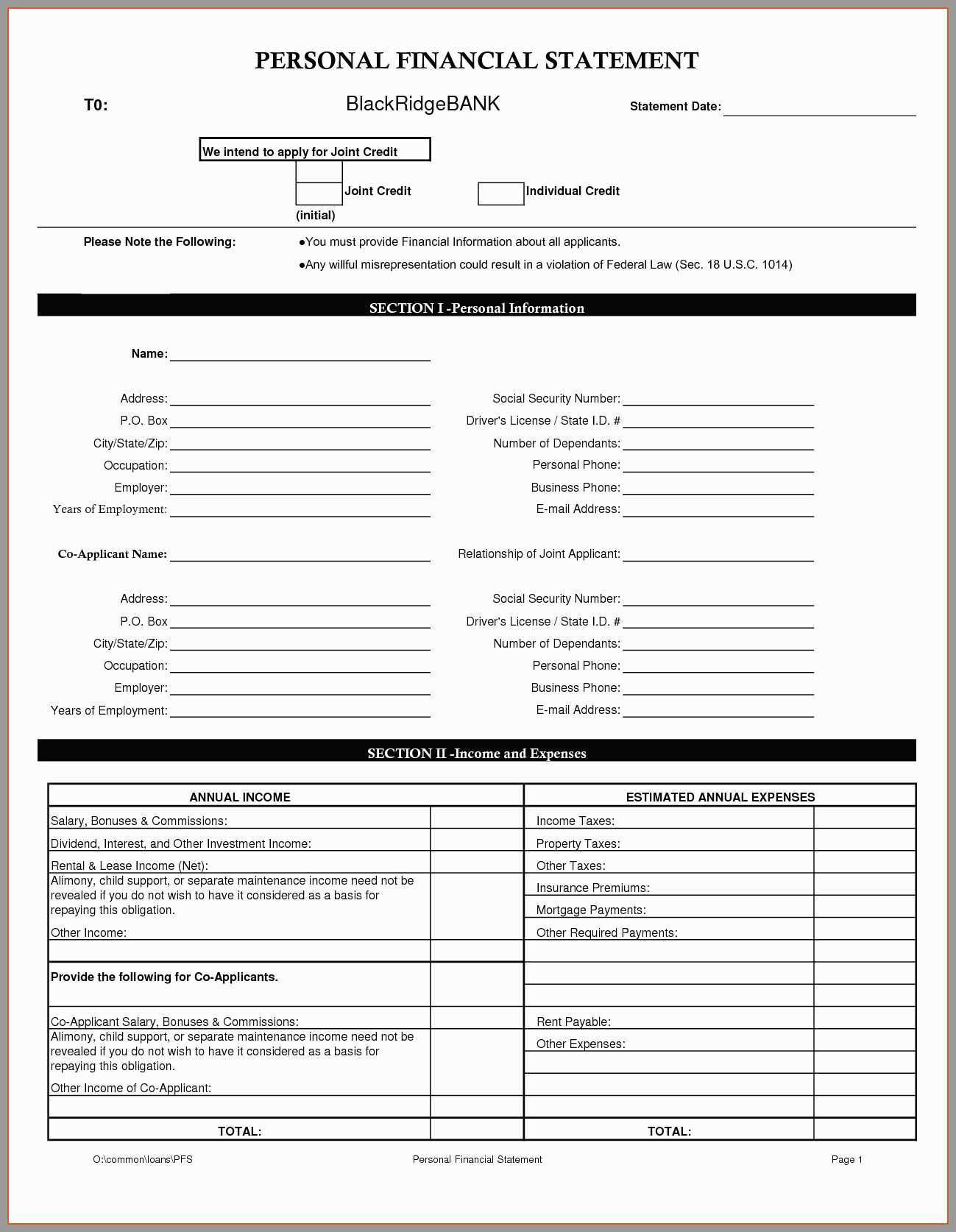Financial Worksheet For Loan Modification Template Db