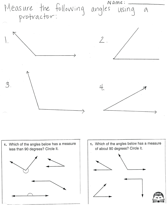 Protractor Worksheets Using A Protractor Circular