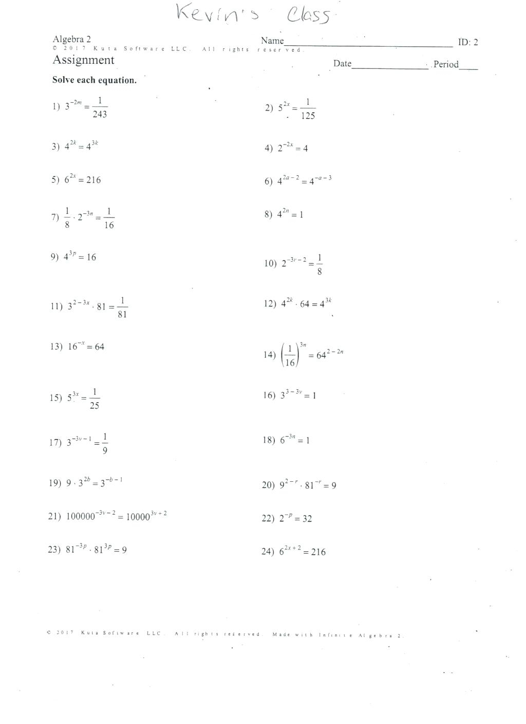 Quadratic Worksheets Math Worksheets Factoring Quadratics