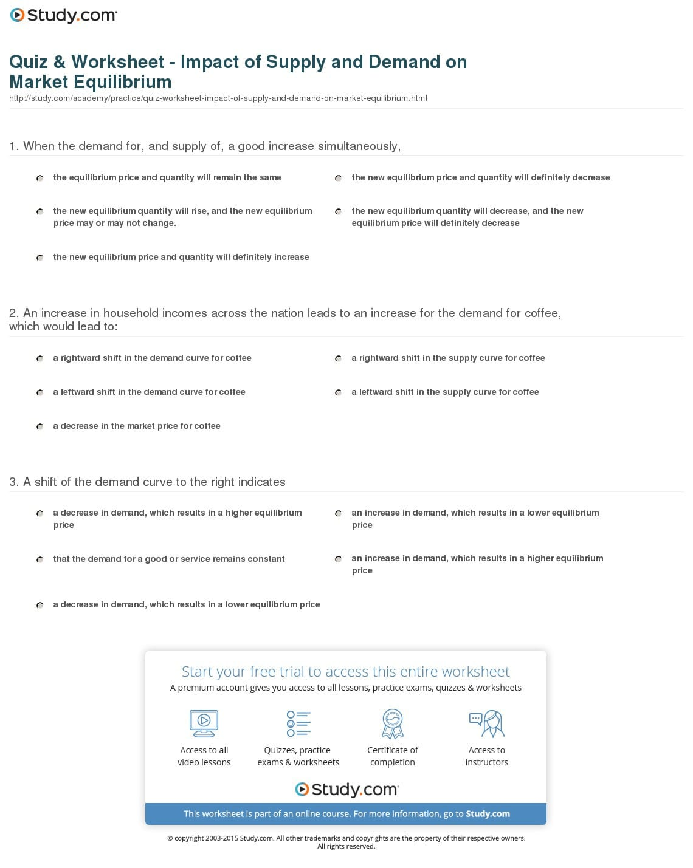 Demand Worksheet Economics Answers