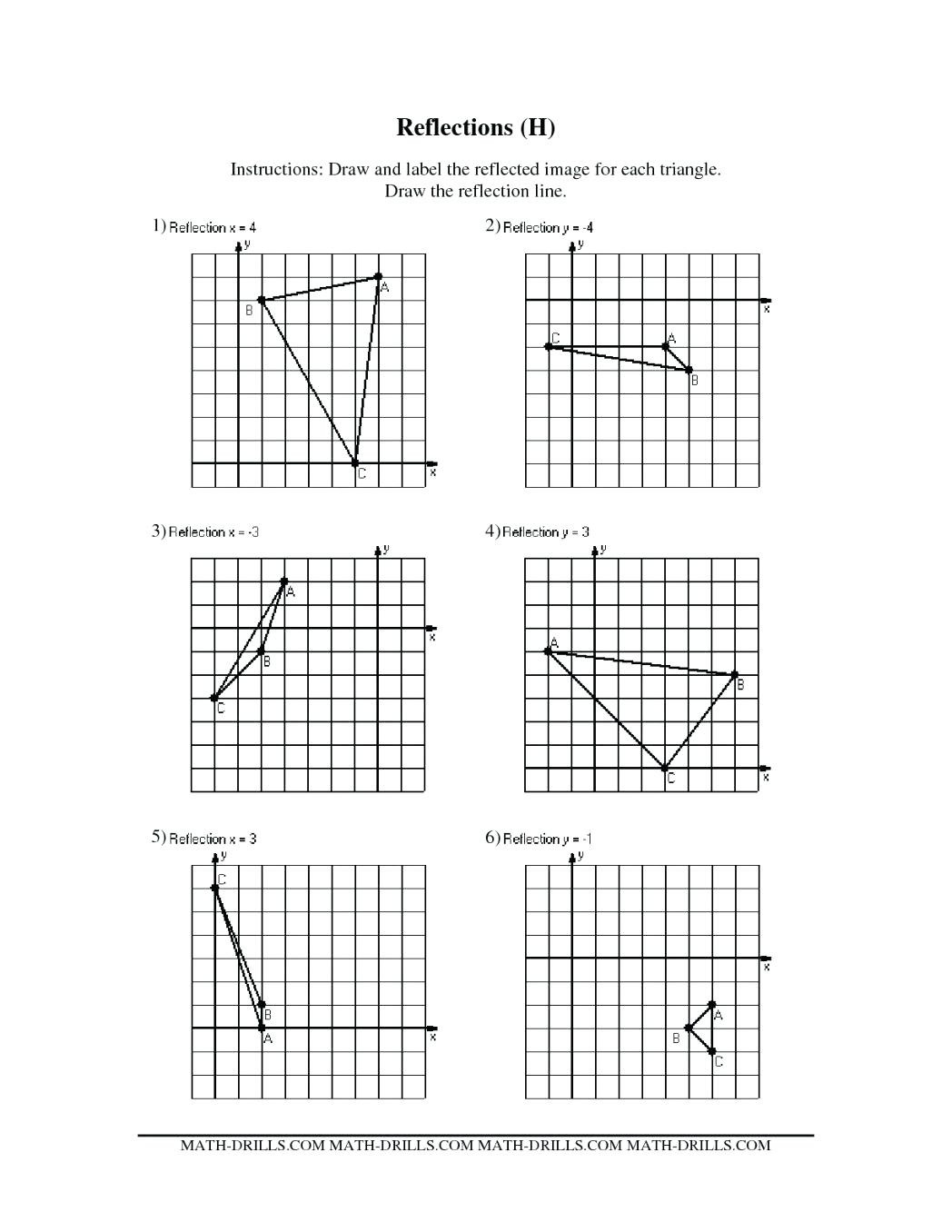 Reflections Worksheet Answers Math Majicpicsclub