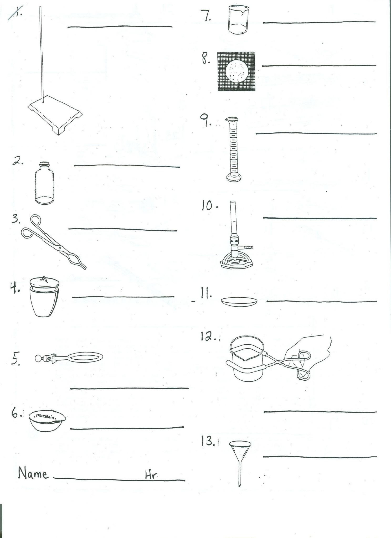 Lab Safety Worksheet Students