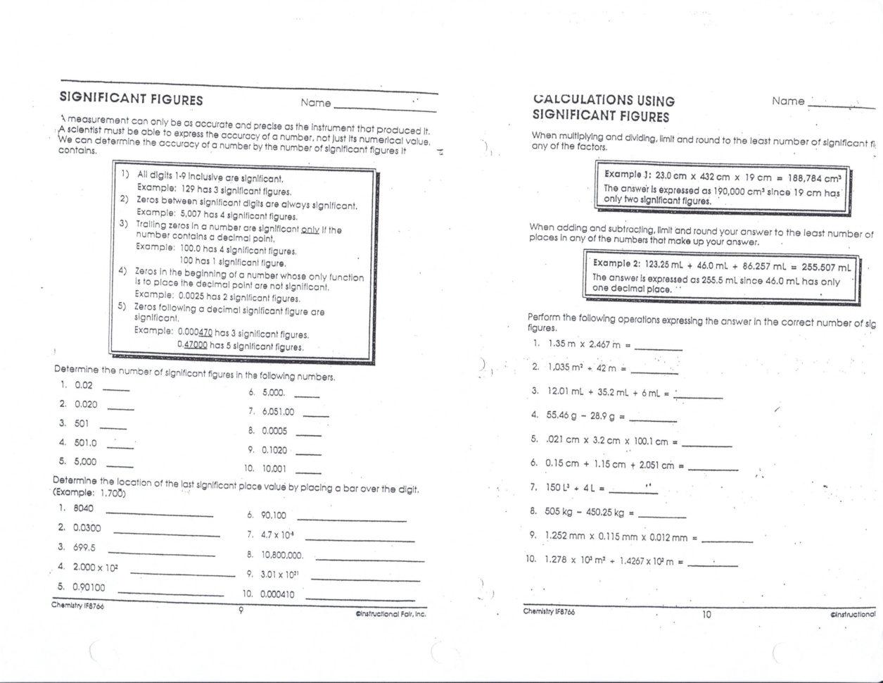 Scientific Notation Worksheet