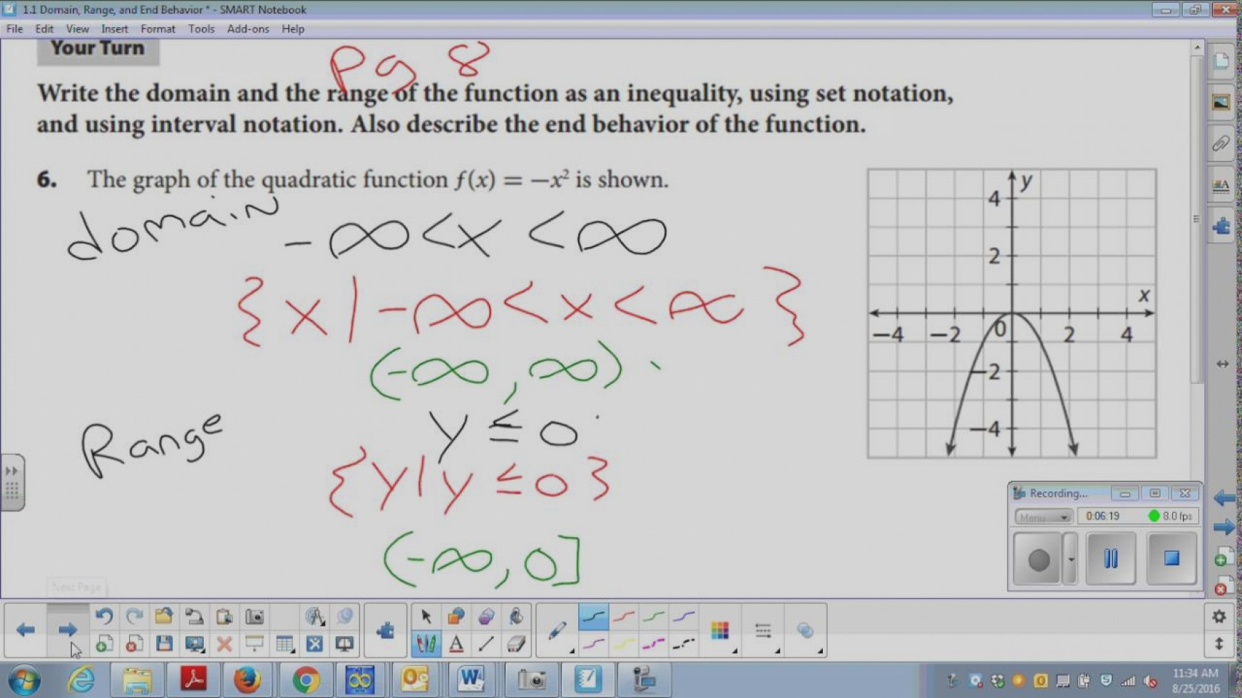 Section Domain And Range Interval Notation Worksheet