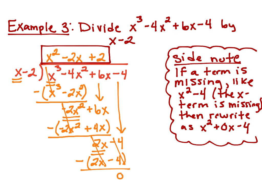 Dividing Polynomials Long And Synthetic Division Worksheet
