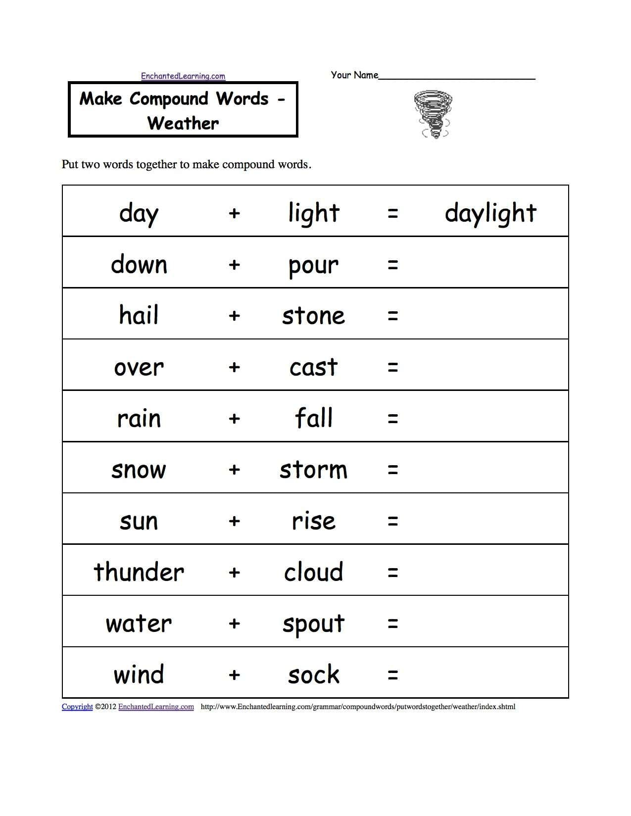 Spanish Weather Worksheets