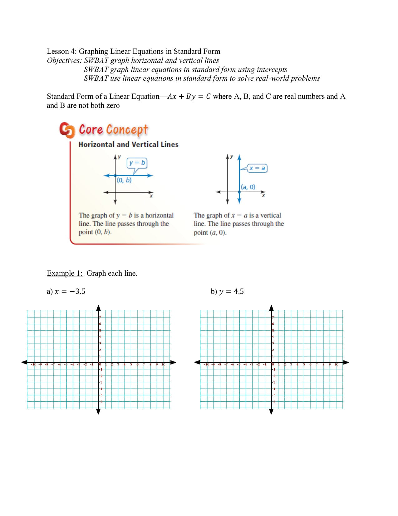 Standard Form Of Linear Equation Worksheet Kuta Softre