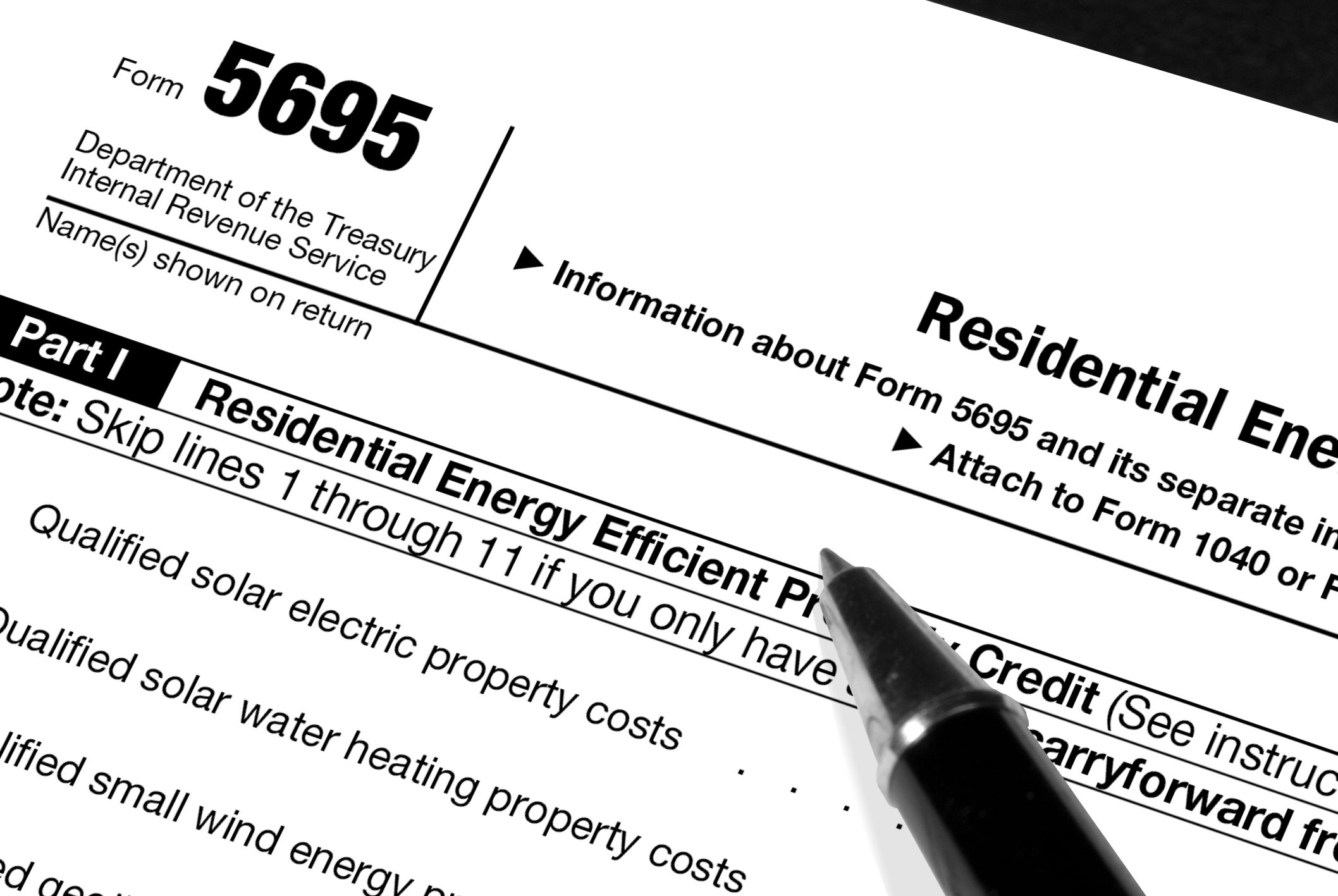 Residential Energy Efficient Property Credit Limit