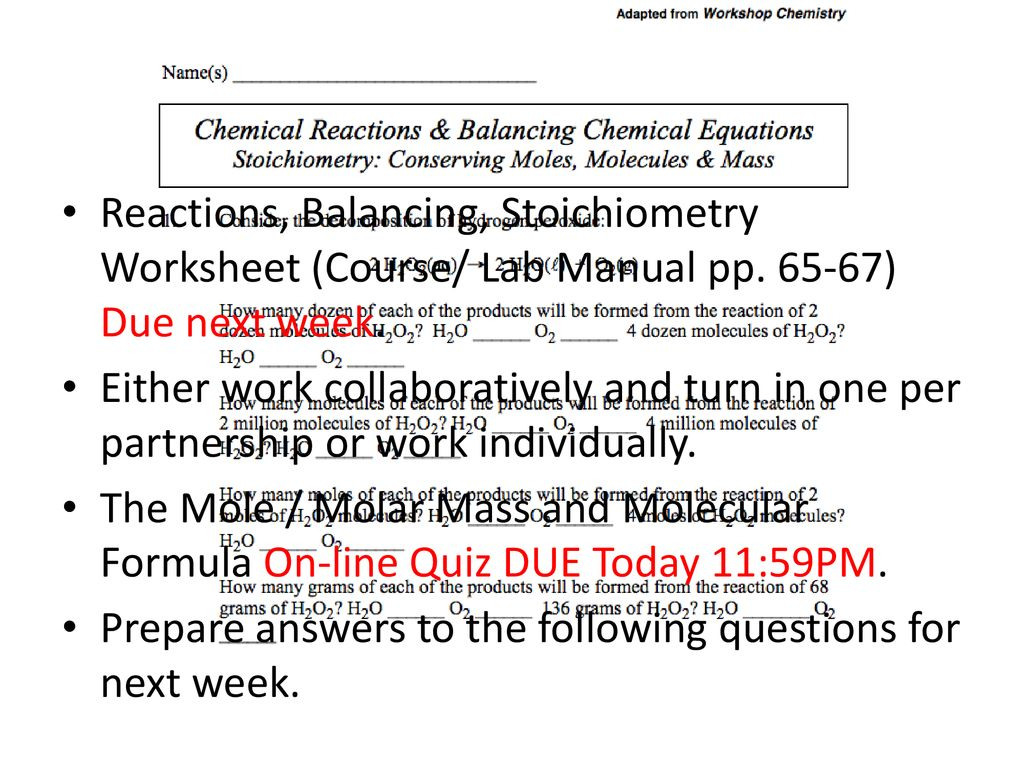 Moles Molecules And Grams Worksheet Answers