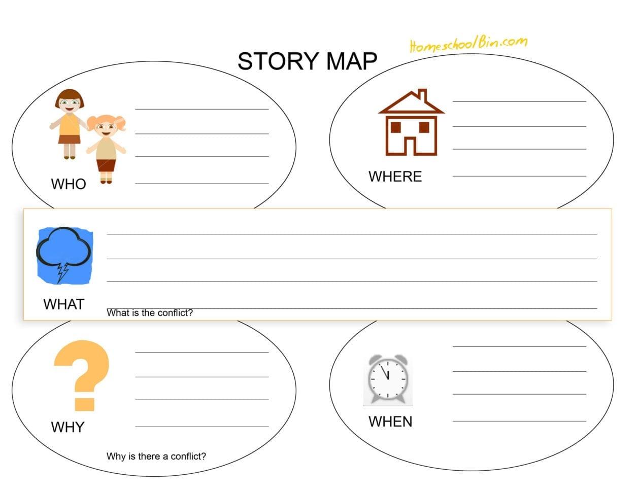 Story Map Worksheet Math Worksheets For 3rd Grade High