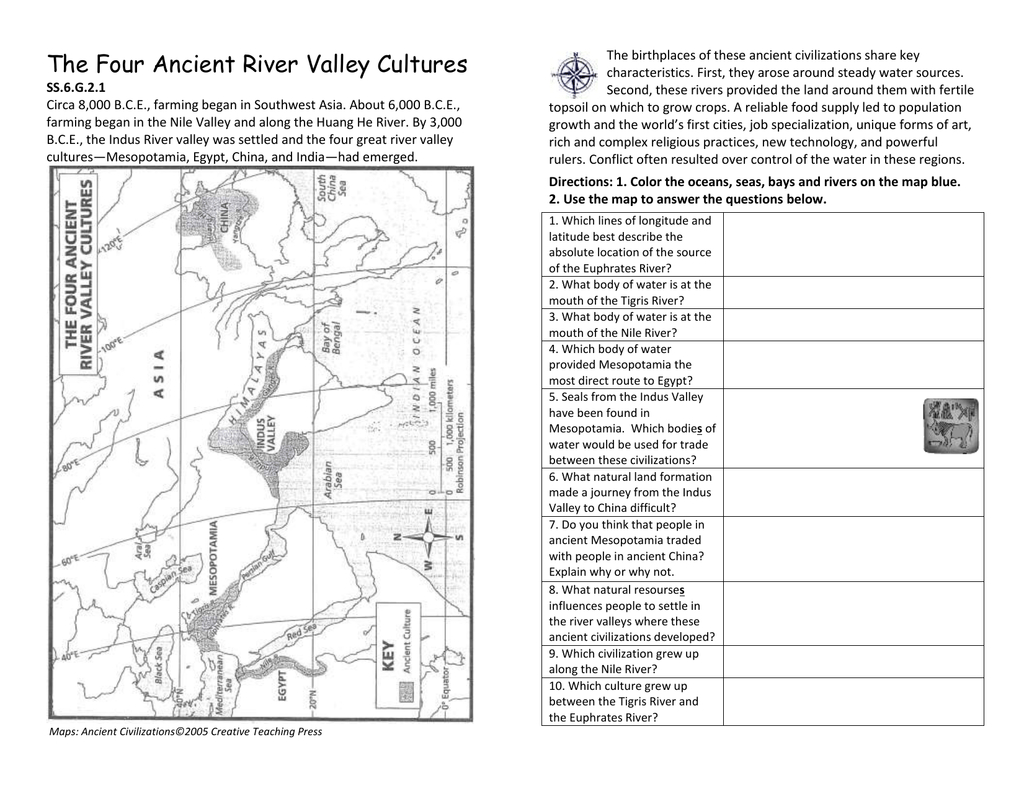 The Four Ancient River Valley Cultures