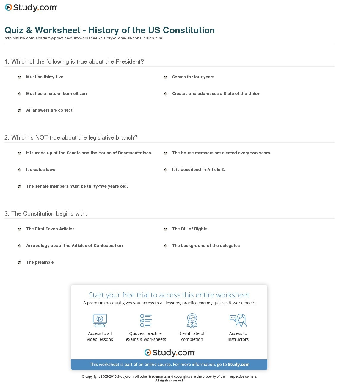 Three Branches Of Ernment Worksheet Teaching 3
