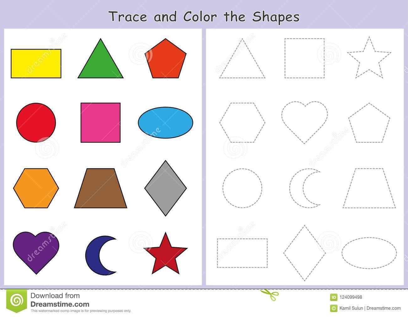 Shapes Worksheets For Preschool