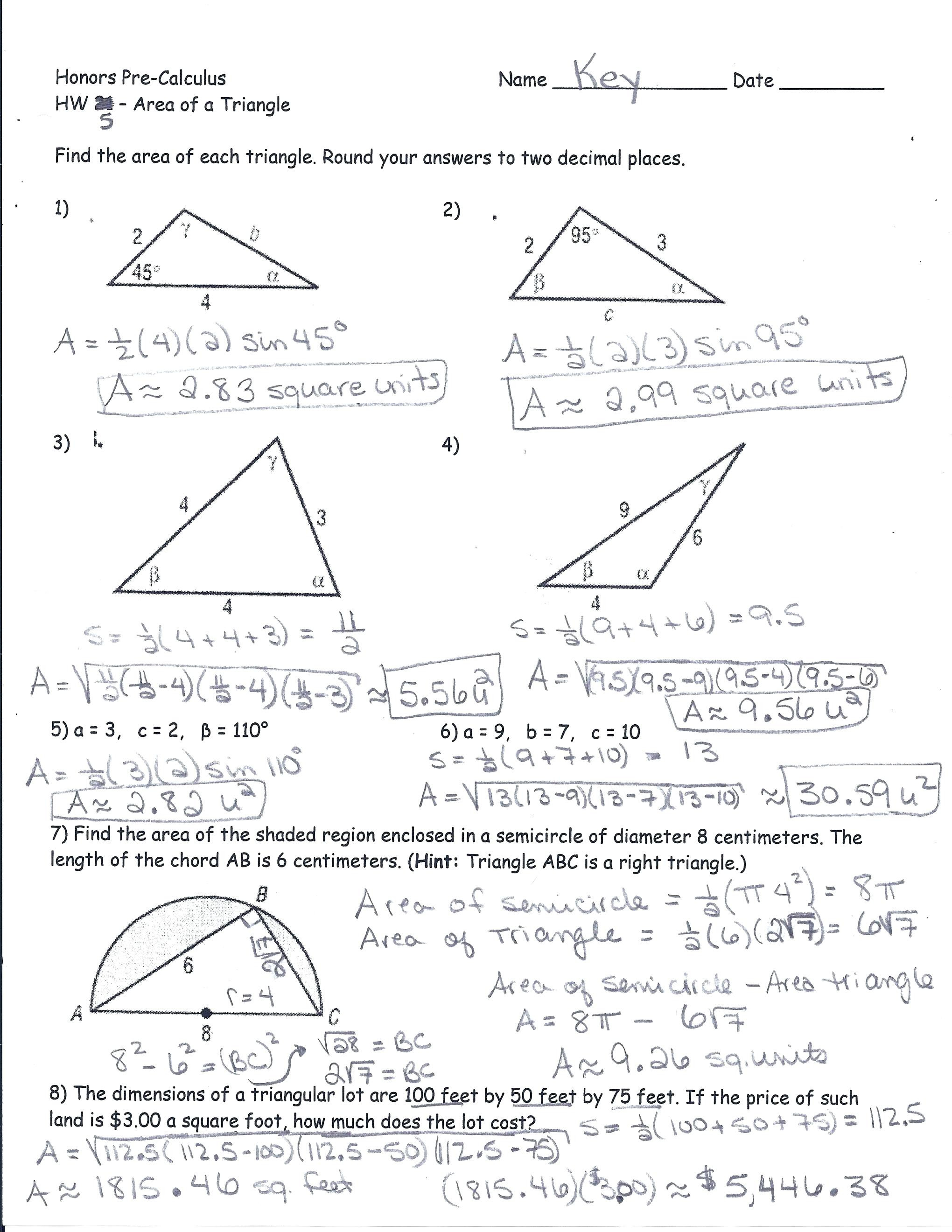 Trigonometric Ratios Worksheet Math Math Worksheets