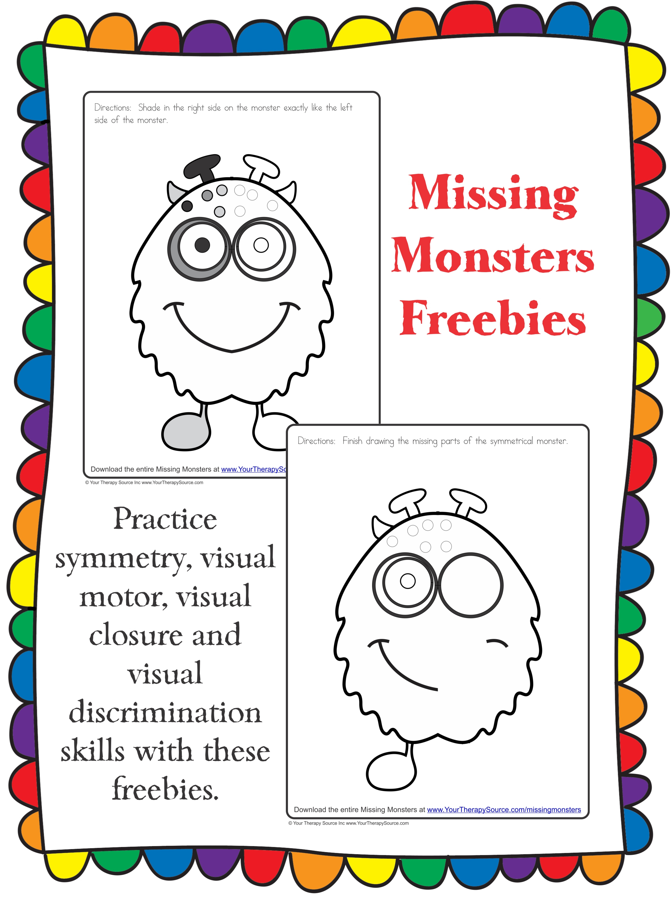 Visual Closure Worksheets