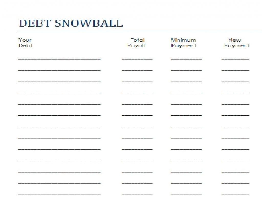 Workshee Dave Ramsey Debt Snowball Worksheet Pedigree