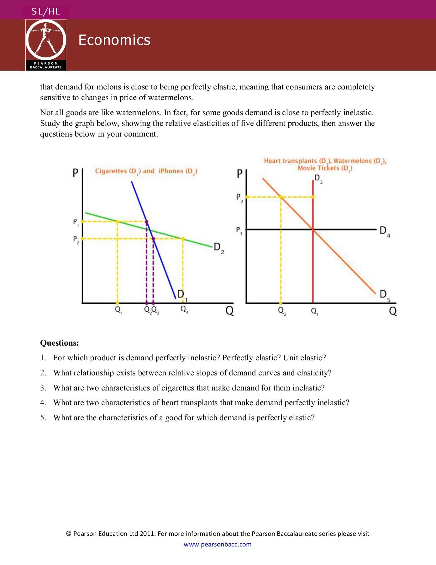 Worksheet On Elasticity Answers