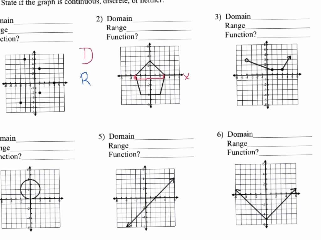 Worksheet Domain And Range Worksheets And Range Worksheets