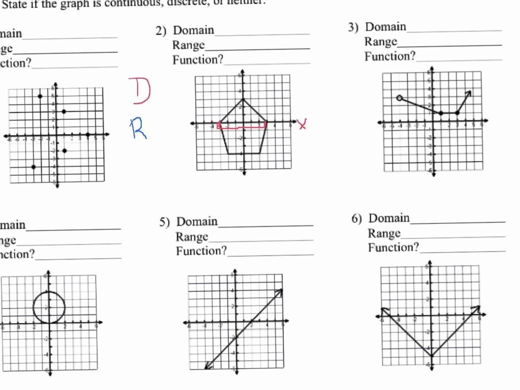 Worksheet Domain And Range Worksheets And Range Worksheets