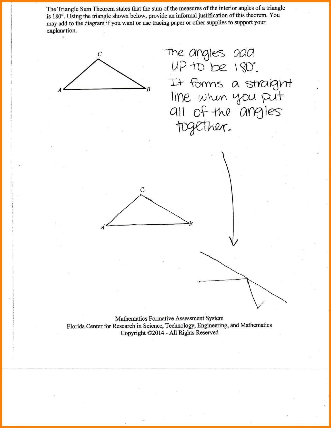 Worksheet Exterior Angle Theorem Worksheet Triangle Sum