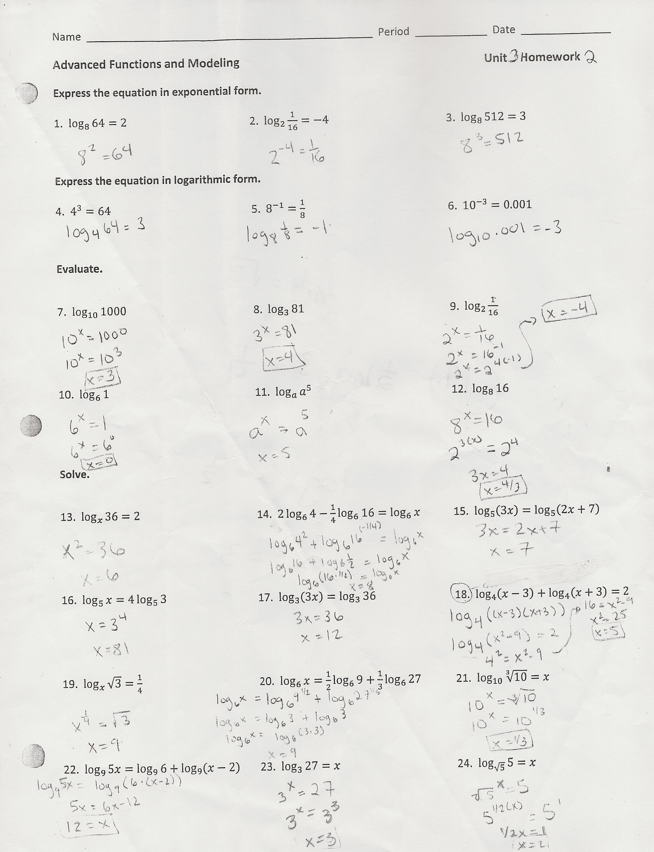 Circles Worksheet Day 2 Answers